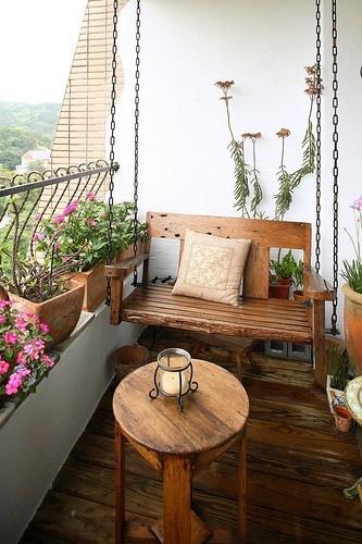 Id as para decorar varandas de apartamentos pequenosblog for Terrace jhula