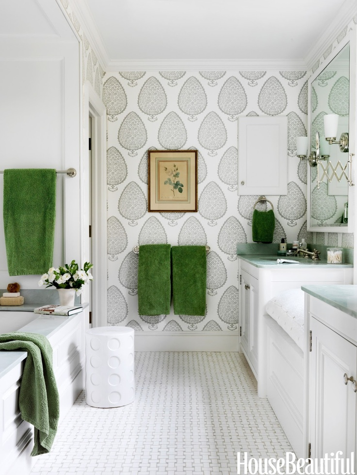 decoracao no banheiro:Green and Grey Bathroom