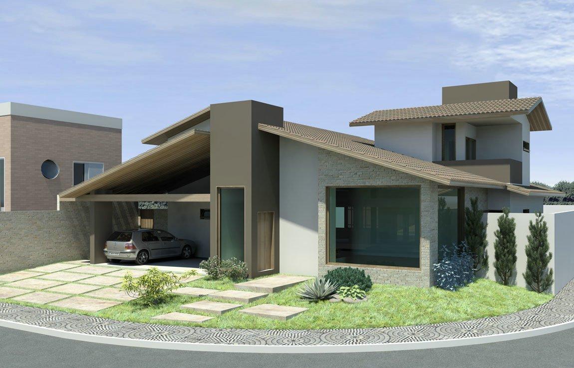 Casa t rrea ou sobrado conhe a os pr s e contrasblog da for Fachadas de casas modernas 1 pavimento