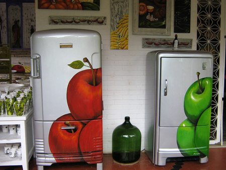 geladeira adesivada