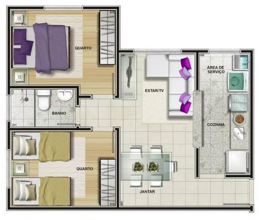 Imagem da planta do apartamento vendido