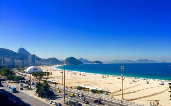 Vista da praia de copacabana.